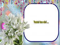 Personalizare felicitari cu text de Martisor 1 Martie 1 Martie