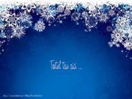 Personalizare felicitari cu text de Anul Nou An nou fericit!