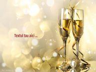 Personalizare felicitari cu text de Anul Nou Sampanie -pers 8