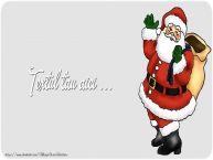 Personalizare felicitari cu text de Craciun Sfondo Natale