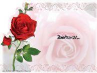 Personalizare felicitari cu text de dragoste Trandafir