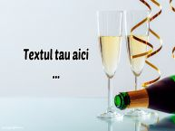 Personalizare felicitari cu text de la multi ani Sampanie cu pahare
