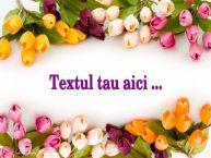 Personalizare felicitari cu text de Sfântul Daniel Background cu flori