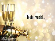 Personalizare felicitari cu text de zi de nastere Sampanie cu pahare