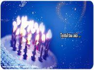 Personalizare felicitari cu text de zi de nastere La multi ani