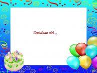 Personalizare felicitari cu text de zi de nastere La multi ani!