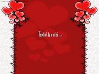 Personalizare felicitari cu text de Valentines Day Love Background