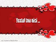 Personalizare felicitari cu text de Valentines Day Background de dragoste