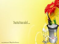 Personalizare felicitari cu text de Ziua Numelui Background flori