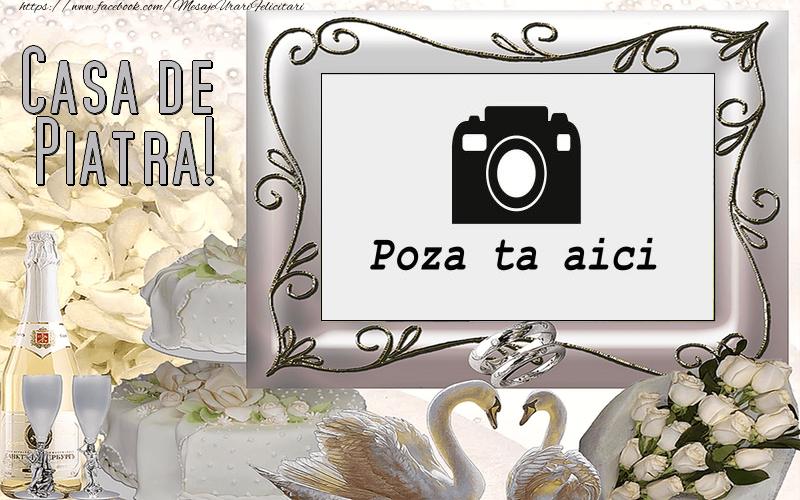 Personalizare felicitari de Casatorie   Casa de piatra!