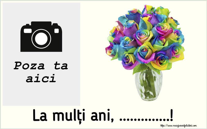 Personalizare felicitari de la multi ani   La mulți ani, ...! - Rama foto