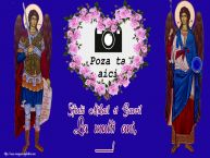 Personalizare felicitari de Sfintii Mihail si Gavril | Sfintii Mihail si Gavril La multi ani, ...! - Rama foto