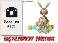 Personalizare felicitari de Pasti | Paște fericit, prieteni! - Rama foto