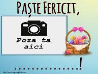 Personalizare felicitari de Pasti | Paște Fericit, ...! - Rama foto