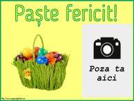 Personalizare felicitari de Pasti | Paște fericit! - Rama foto