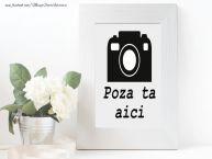 Personalizare felicitari    Rama foto cu flori