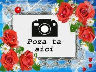 Personalizare felicitari    Fotografie personalizata cu flori