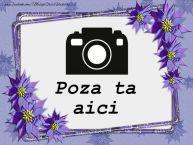 Personalizare felicitari  | Fotografie personalizata cu flori