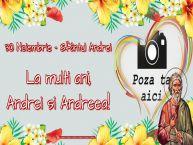 Personalizare felicitari de Sfantul Andrei | 30 Noiembrie - Sfântul Andrei La multi ani, Andrei si Andreea! ...!