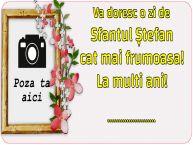 Personalizare felicitari de Sfântul Ștefan   Va doresc o zi de Sfantul Ștefan cat mai frumoasa! La multi ani! ...