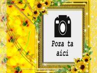 Personalizare felicitari de zi de nastere | Felicitare cu flori, poza si text