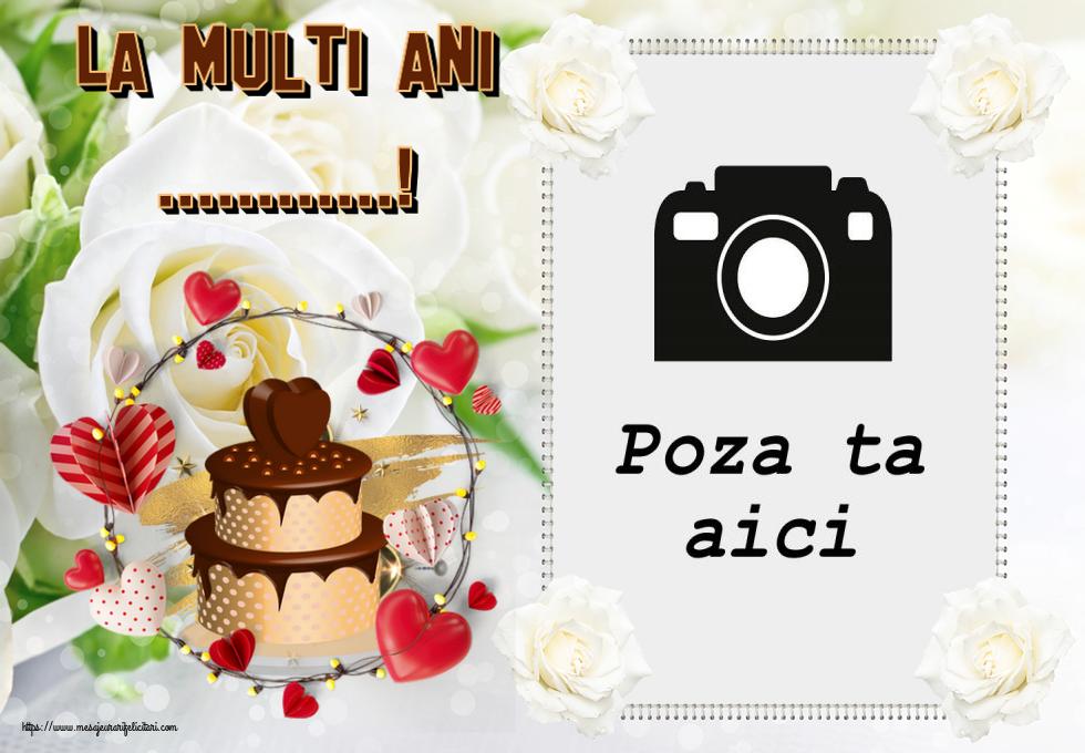 Personalizare felicitari de zi de nastere   La multi ani ...! - Rama foto