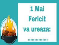 Personalizare felicitari de 1 Mai - Ziua Muncii | 1 Mai Fericit va ureaza: ...