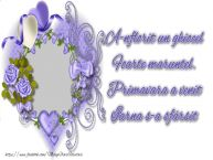 Personalizare felicitari de Martisor 1 Martie | A-nflorit un ghiocel