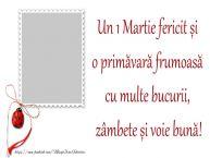Personalizare felicitari de Martisor 1 Martie | Mesajul tau de 1 Martie pentru prieteni
