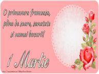 Personalizare felicitari de Martisor 1 Martie | O primavara frumoasa,  plina de soare, sanatate  si numai bucurii!