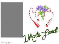 Personalizare felicitari de Martisor 1 Martie | 1 Martie Fericit! - Rama foto