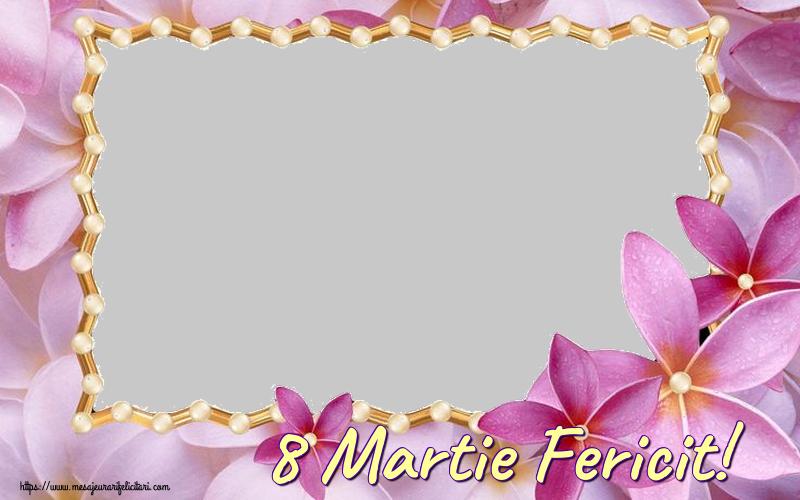 Personalizare felicitari de Ziua femeii 8 martie | 8 Martie Fericit! - Rama foto de 8 Martie