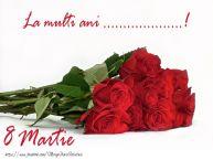 Personalizare felicitari de Ziua femeii 8 martie | La multi ani ...! 8 Martie