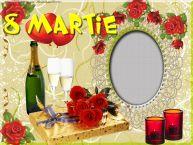 Personalizare felicitari de Ziua femeii 8 martie   Rama foto de 8 Martie
