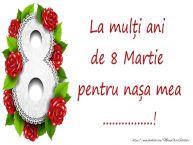 Personalizare felicitari de Ziua femeii 8 martie | La mulți ani de 8 Martie pentru nașa mea ...!