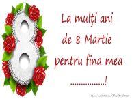 Personalizare felicitari de Ziua femeii 8 martie | La mulți ani de 8 Martie pentru fina mea ...!