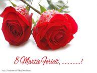 Personalizare felicitari de Ziua femeii 8 martie | 8 Martie Fericit, ...!