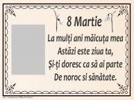 Personalizare felicitari de Ziua femeii 8 martie   8 Martie - Poezie pentru mama