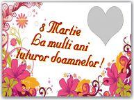 Personalizare felicitari de Ziua femeii 8 martie   8 Martie La multi ani tuturor doamnelor! - Rama foto de 8 Martie
