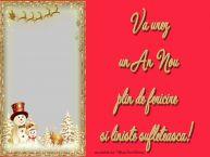 Personalizare felicitari de Anul Nou | Va urez un An Nou plin de fericire si liniste sufleteasca!