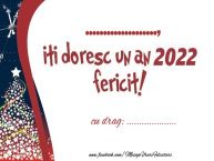 Personalizare felicitari de Anul Nou | ... iti doresc un an 2019 fericit! ...