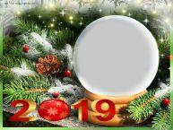 Personalizare felicitari de Anul Nou | Rama foto de Anul Nou