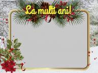 Personalizare felicitari de Anul Nou   La multi ani! - Rama foto de Anul Nou