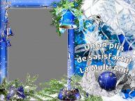 Personalizare felicitari de Anul Nou | Un an plin de satisfactii! La Multi Ani! - Rama foto de Anul Nou