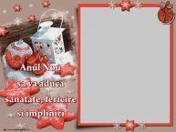 Personalizare felicitari de Anul Nou | Anul Nou sa va aduca sanatate, fericire si impliniri - Rama foto de Anul Nou