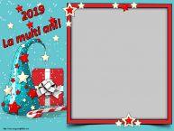 Personalizare felicitari de Anul Nou | 2019 La multi ani! - Rama foto de Anul Nou