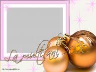 Personalizare felicitari de Anul Nou | La multi ani 2020! - Rama foto de Anul Nou