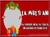 Personalizare felicitari de Anul Nou | La multi ani, va doresc intai de toate, un an nou cu sanatate
