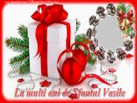 Personalizare felicitari de Anul Nou | La multi ani de Sfantul Vasile