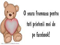Personalizare felicitari de buna seara | O seara frumoasa pentru toti prietenii mei de la facebook!